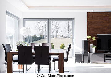 comedor, moderno, minimalistic