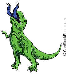 Comer dinosaurios