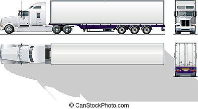 comercial, hi-detailed, semi- camión