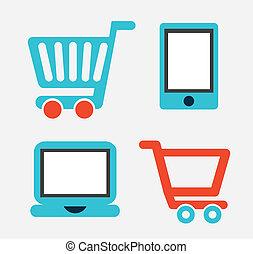 comercio electrónico, diseño