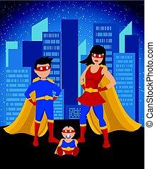 Comic colorido niños superhéroes plantilla