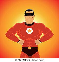 comic-like, héroe super
