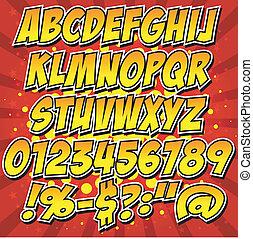Comics estilo colección de alfabeto se