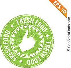 Comida de sellos de goma, ilustración de vector EPS10