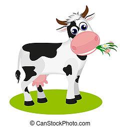 comida, lindo, vaca, margarita