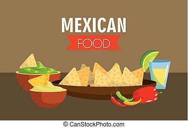 Comida mexicana con pimienta picante