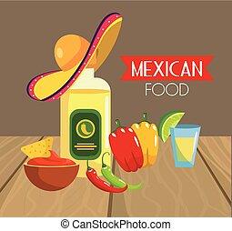 Comida mexicana tradicional con chile