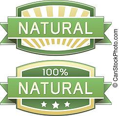 Comida natural o etiqueta de productos
