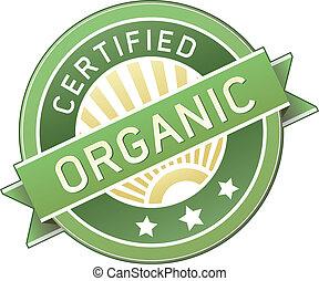 Comida orgánica o etiqueta de producto