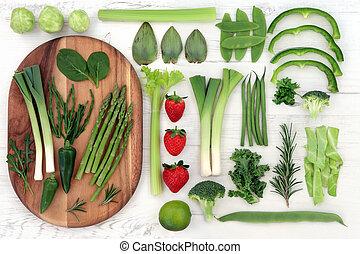 Comida súper roja y verde