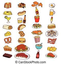 Comida y bebida iconos