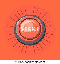 Comienza el icono botón