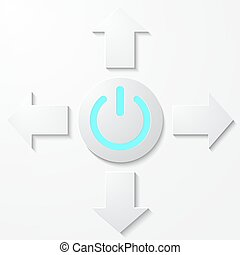 Comienza icono, botón