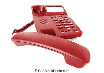 communications., teléfono, oficina