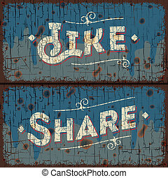 Como, compartir palabras - concepto de las redes sociales
