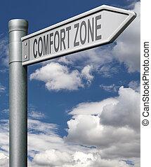comodidad, zona