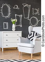 Comodo sillón blanco
