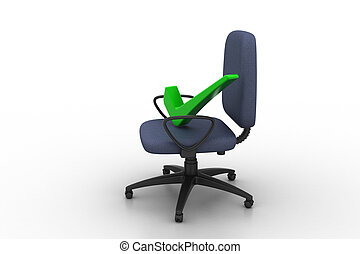 comp, derecho, cómodo, marca, sentado