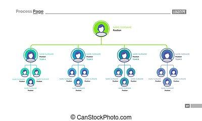 compañía, árbol, estructura, diapositiva, plantilla
