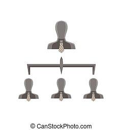Compañia de negocios empresariales de negocios de estructura de nivel estructura piramidal