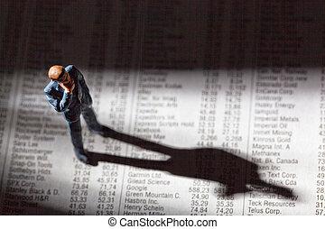 Comparte los precios en un periódico