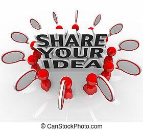 Comparte tu idea de gente creativa discutiendo problemas de solución