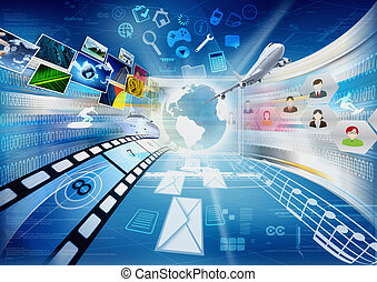 compartir, multimedia, internet