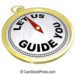 Compass, déjanos guiarte por el apoyo y el servicio
