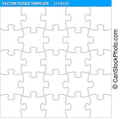 Completo rompecabezas / plantilla de rompecabezas (25 piezas)