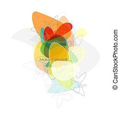 Composición abstracta abstracta