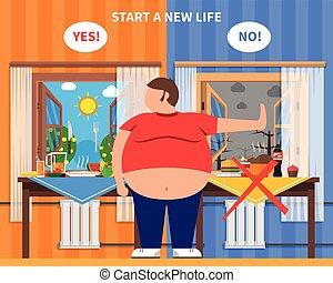 Composición de diseño de obesidad
