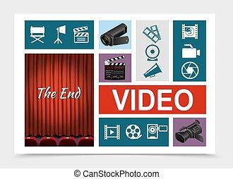 Composición de elementos de cine