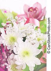 Composición de flores de crisantemos