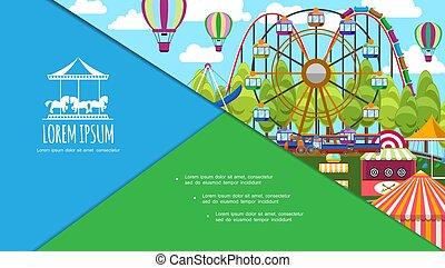 Composición de parques de diversiones