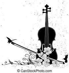 Composición musical floral del vector