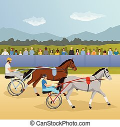 Composición plana de carreras de Harness