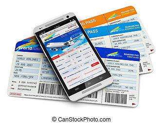 Comprando boletos de avión en línea