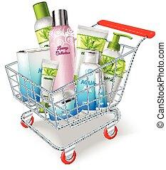 compras, cosméticos, carrito