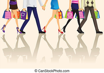 compras, gente
