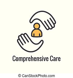 comprehensive, cuidado, salud, relacionado, icono, imagen, simbolismo