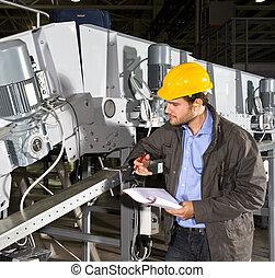 Comprobación de equipos industriales