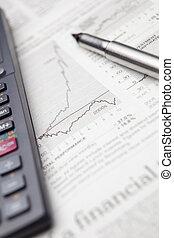 Comprobar la situación de los mercados financieros en un periódico