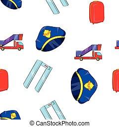 Comprueba el patrón del aeropuerto, estilo de dibujos animados