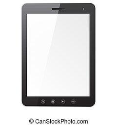 Computadora de Tablet con pantalla en blanco
