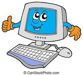 Computadora feliz