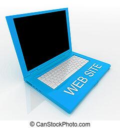 Computadora Laptop con página web de palabra