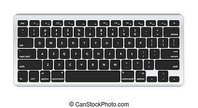 computadora, negro, teclado
