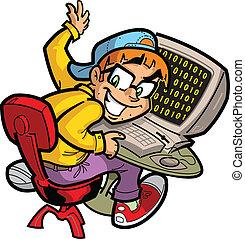 Computadora nerd