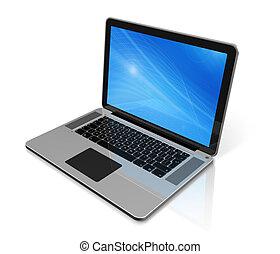 Computadora portátil aislada en blanco