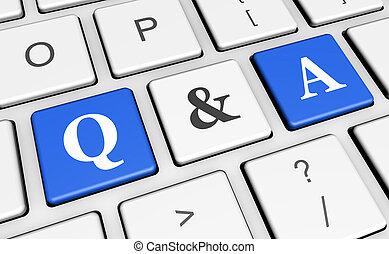computadora, pregunta, respuesta, llave